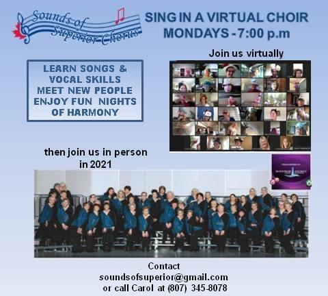 Join us virtually and sing